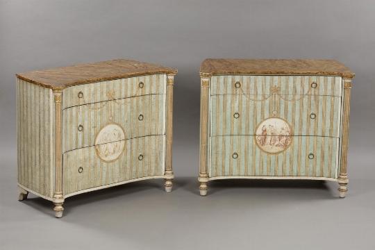Coppia di cassettoni in stile neoclassico, XX secolo