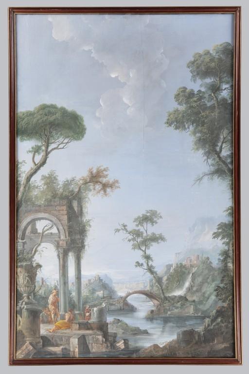 Anonimo della seconda metà del XVIII Coppia di paesaggi