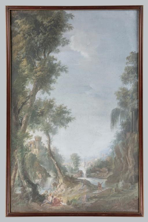 Anonimo della seconda metà del XVIII secolo, a) b) 'Paesaggi' - Galleria