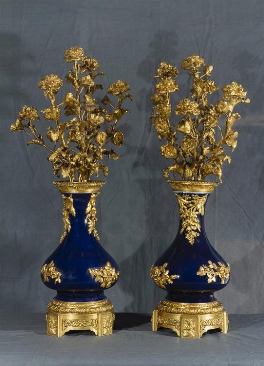 Coppia di candelieri, Francia, XIX secolo