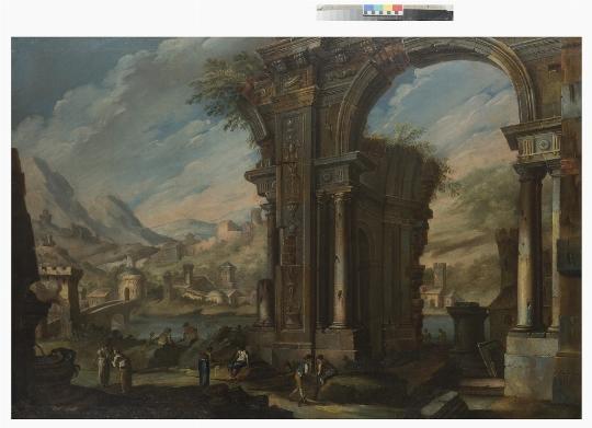 Anonimo del del XVIII secolo, Coppia di Paesaggi