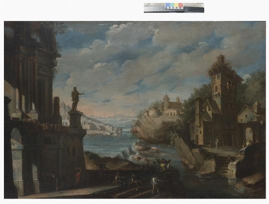 Anonimo del XVIII secolo, Coppia di Paesaggi