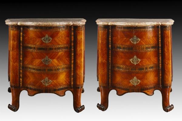 Rara coppia di cassettoni, Piemonte, seconda metà del XVIII secolo