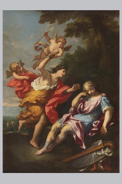 Scuola romana del XVIII secolo, Armida e Rinaldo