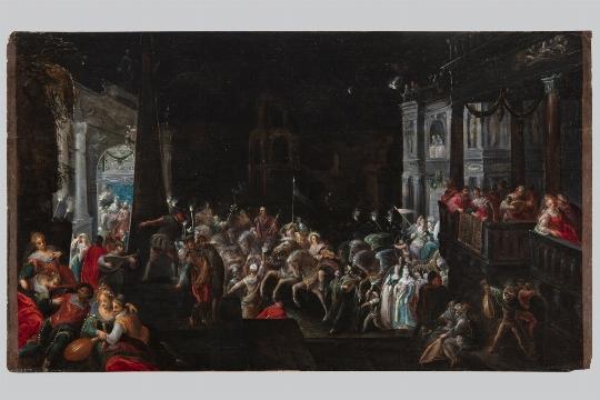 Scuola fiamminga del XVII secolo, Corteo degli dei