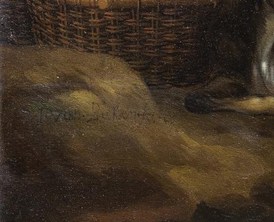 Van Buken, olio su rame, firma