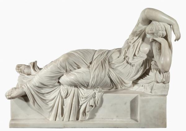 Benedetto Cacciatori (1794-1871) (attribuita), Arianna addormentata