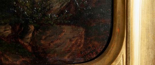 paesaggio lacustre firma
