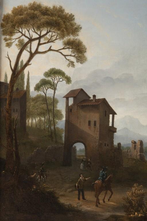 Anonimo del XVIII secolo, Paesaggio (part)