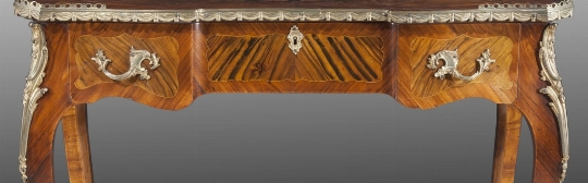 Tavolino intarsiato, Francia, bronzi
