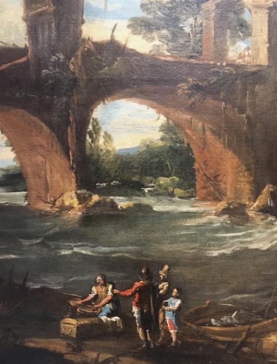 Paesaggio con ponte - dettaglio