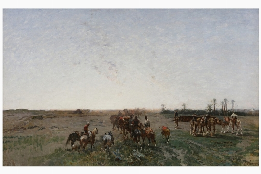 Alberto Pasini, 'Carovana di persiani in marcia' - CATALOGO