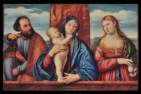 Bernardino Licinio, 'Sacra Famiglia' - Galleria