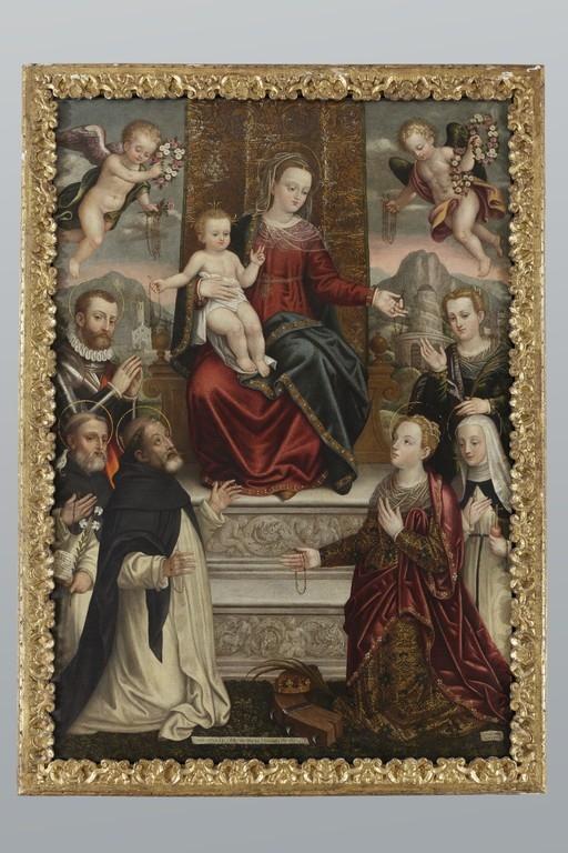 Luca Mombello, 'Madonna del Rosario con Santi' - CATALOGO