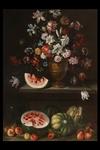Giovanni Stanchi Dei Fiori, a) b) 'Natura morta con vaso di fiori e frutta' - Galleria