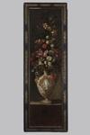 """Scuola romana del XVII secolo, """"Vaso in maiolica d'Urbino con grande bouquet di  [..]"""