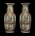 Coppia di vasi Famiglia Rosa cantonese, Cina, XIX secolo - Galleria
