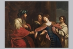 """Pietro Labruzzi (Roma, 1739 - 1805), """"Lo svenimento di Ester"""""""