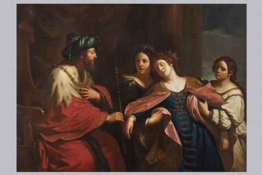 Dipinto di Pietro Labruzzi, 'Lo svenimento di Ester' - Galleria