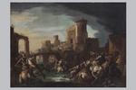 Scuola veneta del XVII secolo, a) b) 'Battaglia' - Galleria