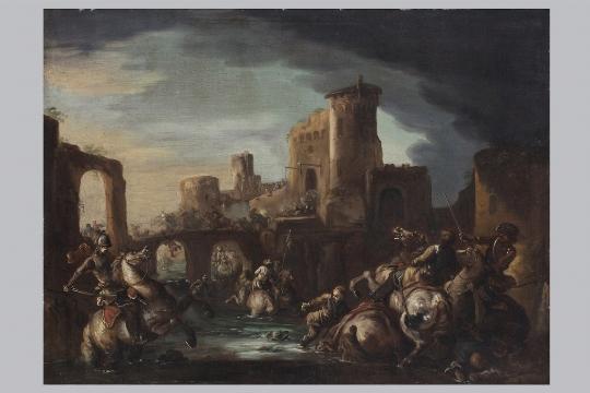 Scuola veneta del XVII secolo, a) b) 'Battaglia' - CATALOGO