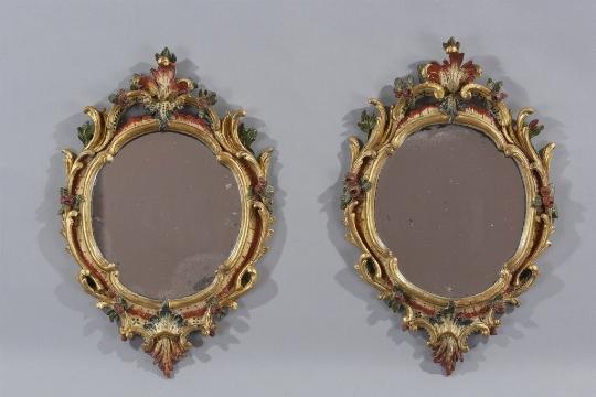 Coppia di piccole specchiere, Piemonte, XVIII secolo - CATALOGO