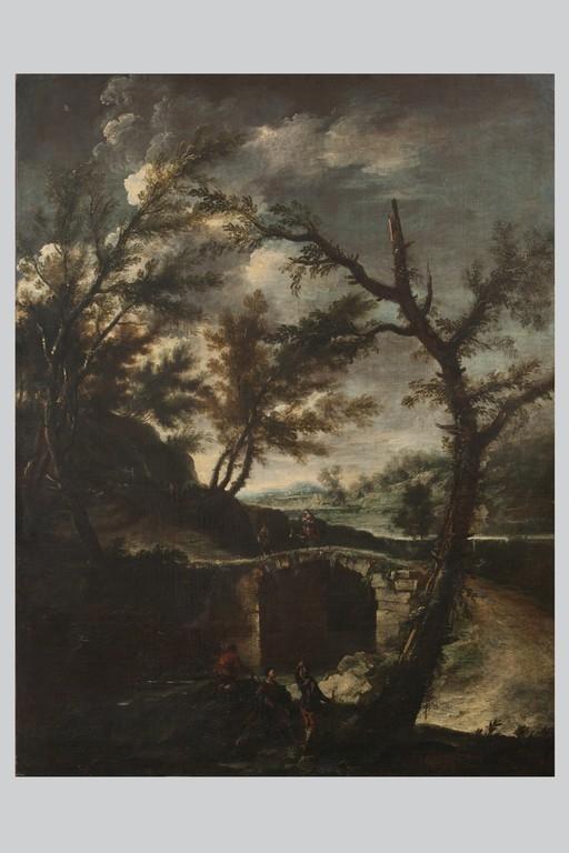 Antonio Francesco Peruzzini, a) 'Fuga in Egitto' b) 'Martirio di San Pietro da Verona' - CATALOGO