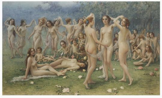 Fausto Zonaro, 'Allegoria della primavera' - Galleria