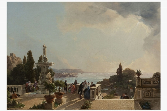 Anonimo del XIX secolo, 'Costiera amalfitana' - Galleria