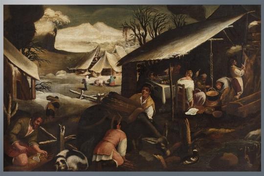 Scuola bassanesca del XVII secolo, a) b) 'Allegoria delle stagioni' - CATALOGO