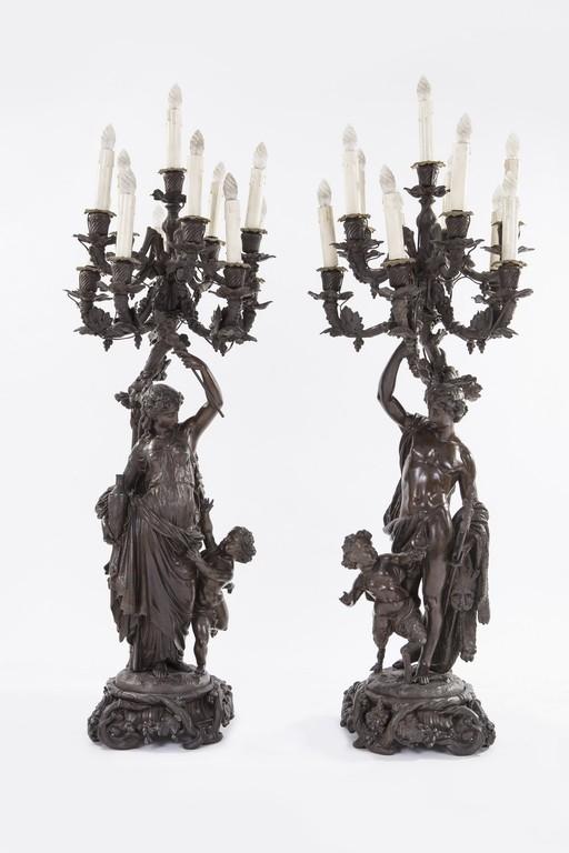 Coppia di candelieri in bronzo - CATALOGO