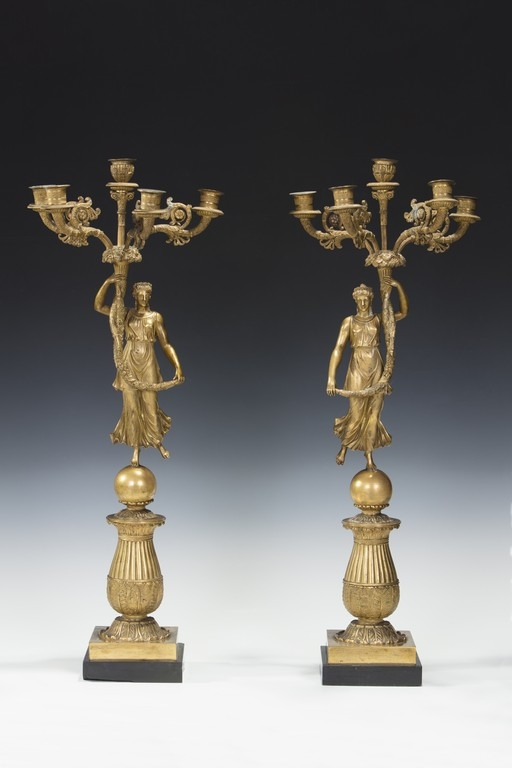Coppia di candelieri, Francia, XIX secolo - CATALOGO