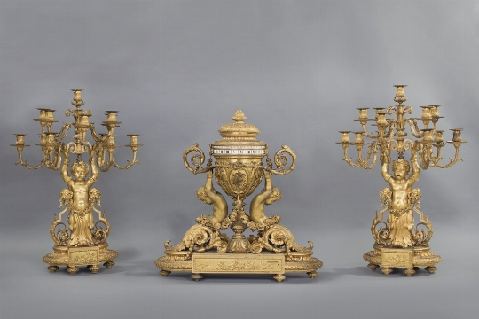 Trittico da camino, Francia, XIX secolo - CATALOGO