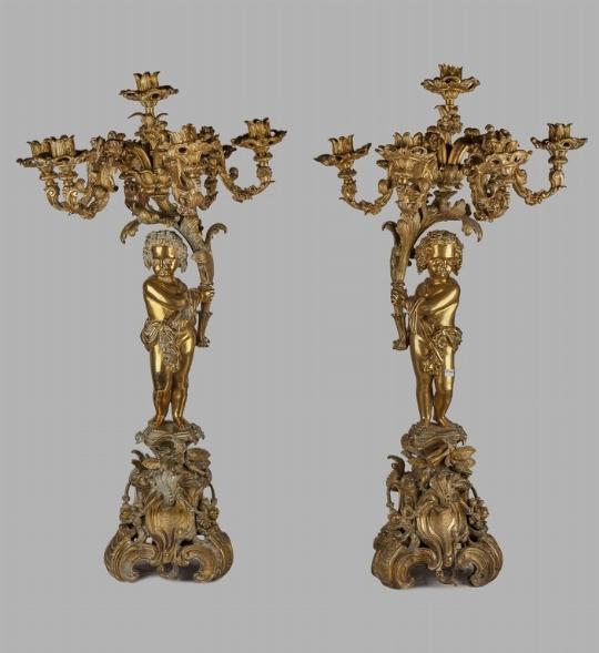 Coppia di candelieri del XIX secolo - CATALOGO