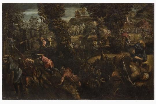 Tintoretto, Battaglia, olio su tela
