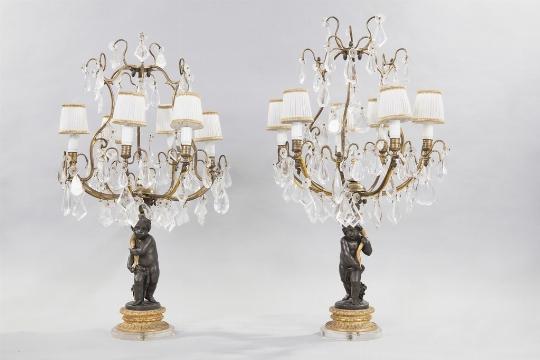 Coppia di girandoles, Francia, XIX secolo - Galleria
