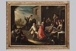 Pietro Domenico Olivero, 'Festa di paese con contadini danzanti' - Galleria