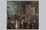 Pietro Domenico Olivero, 'Festa di paese'  - Galleria