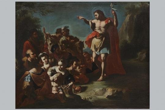 Francesco Solimena (attribuito), 'La predica di San Giovanni Battista' - Galleria
