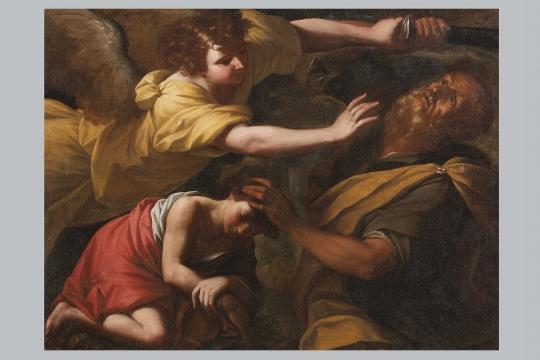 Anonimo del XVII secolo, a) La cacciata di Agar e Ismaele; b) Il sacrificio di Isacco - CATALOGO