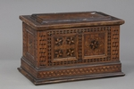 Cassettina in legno intarsiato - Galleria