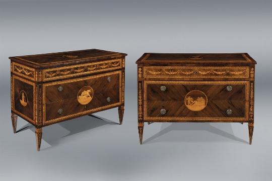 Coppia di cassettoni, Lombardia, fine del XVIII secolo - Galleria