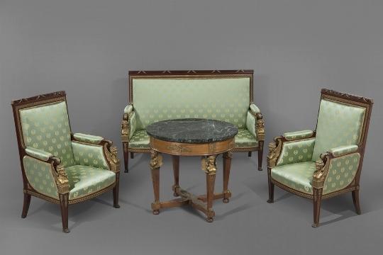 Salotto in mogano, seconda metà del XIX secolo - CATALOGO