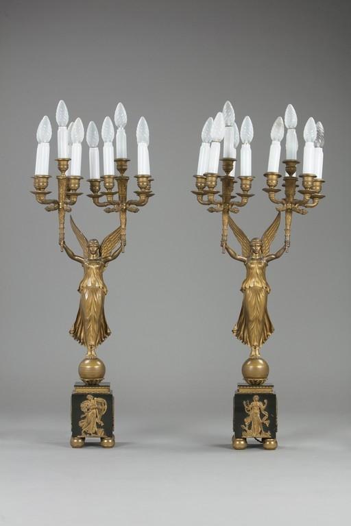 Coppia di candelabri, XIX secolo - Galleria