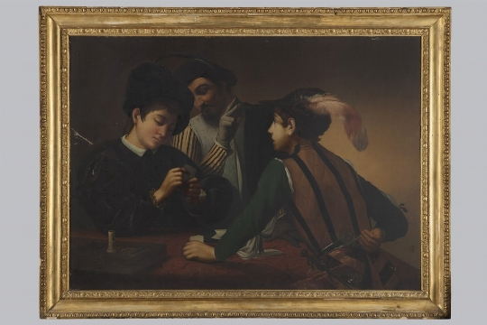 """Anonimo del XIX secolo, """"I bari"""" (da Caravaggio)"""