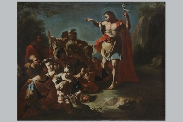 "Francesco Solimena (attribuito), ""La predica di San Giovanni Battista"""